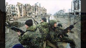 Российские солдаты на юге Грозного