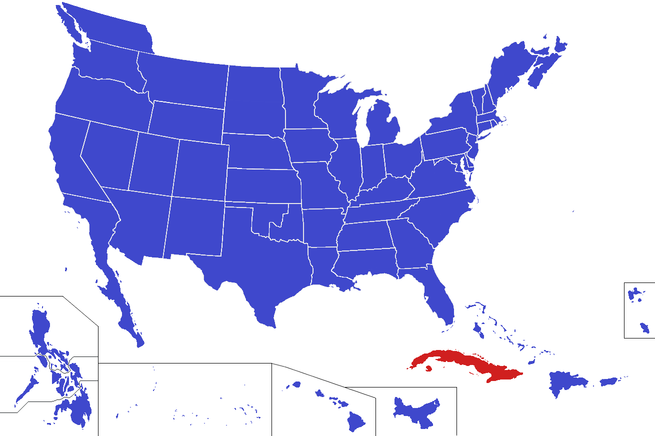 Cuba alternity alternative history fandom powered by wikia location of cuba in the united states gumiabroncs Gallery