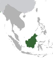 Brunei province map