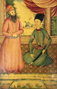 Agha Mohammad Khan with Ebrahim Khan Kalantar