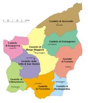 Map of San Marino