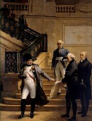 Napoleon visiting the Tribunat (Palais Royal) in 1807