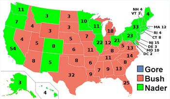 US Electoral College 2000 (President Nader)