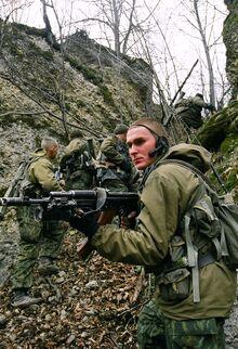 Черноморская морская пехота в Чечне