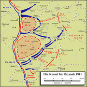 Karte - Kesselschlacht bei Brjansk 1941