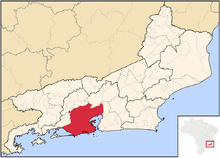 Rio de Janeiro city location map (World of the Rising Sun)