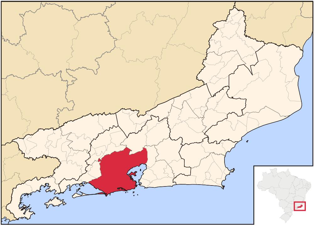 Image - Rio de Janeiro city location map (World of the Rising Sun ...