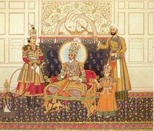 The Emperor Bahadur Shah II Enthroned