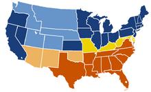US Secession map 1863