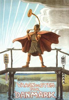 Плакат датских националистов