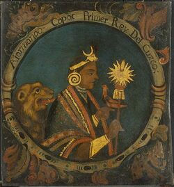 Brooklyn Museum - Manco Capac, First Inca, 1 of 14 Portraits of Inca Kings - overall