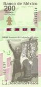 Billete $200 Mexico Bicentenario Anverso