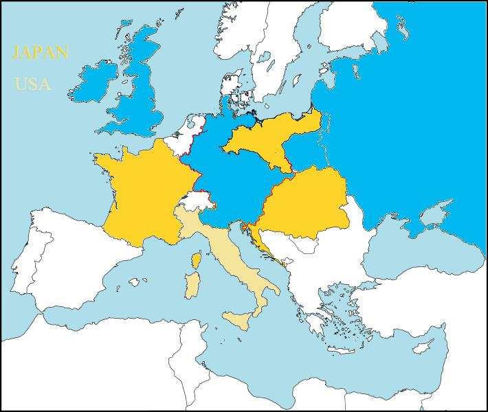 First World War Austrian Germany Alternative History FANDOM - Austria germany map