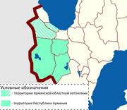 Карта Армении после войны