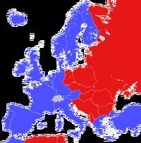 Cold War map (Awgustоwsky putsh)