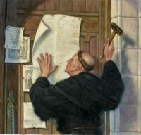 Luther Nailing Theses