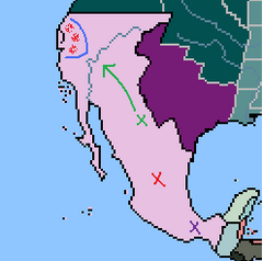 Mexican Army Movement, Bear Flag Rebellion (1848 Map Game)