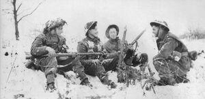 Британская армия зимой