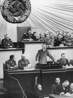 Adolf Hitler speech on Invasion of Czechoslovakia