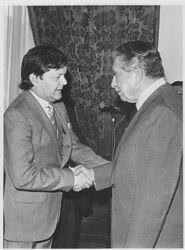 Juan Carlos Stack y Augusto Pinochet 1981