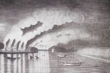A View of the Plundering and Burning of the City of Grymross, by Thomas Davies, 1758