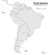 Map of South America (George Washington Survives)