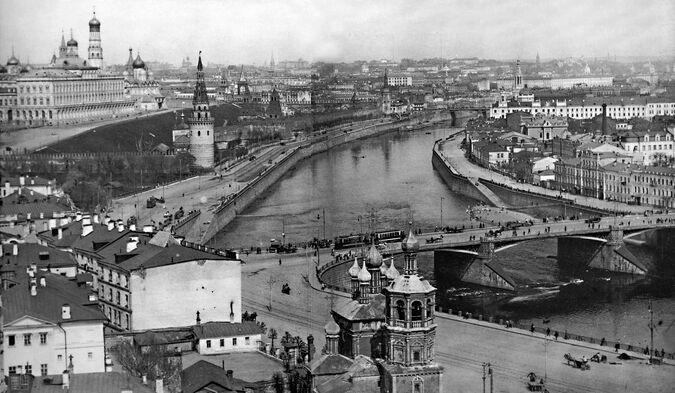 Центр Москвы конец XIX века