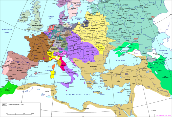 Map of Europe 1720
