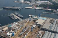 USS Kitty Hawk at Yokosuka