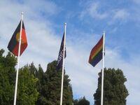 Rainbow flag at USW