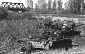 Грузинские танки у Гумиста