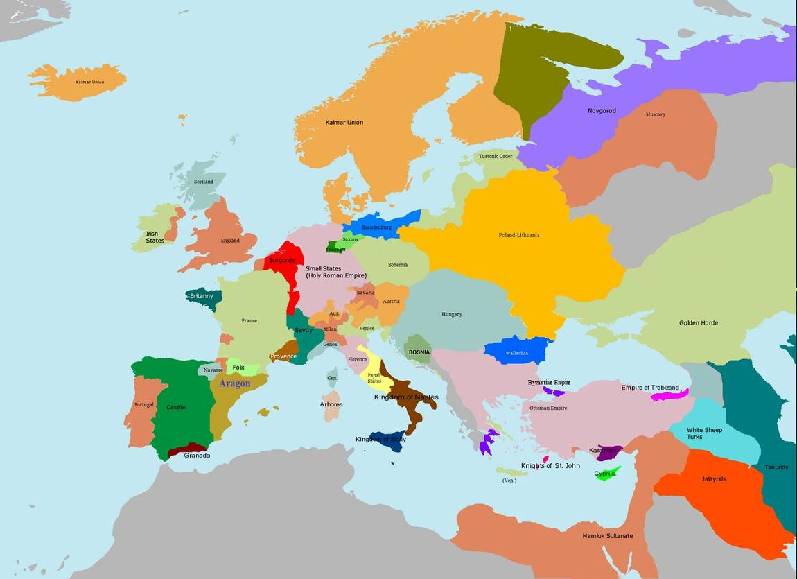 Imperial Europe Map Game Alternative History