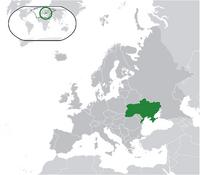 Карта Украины в 2000