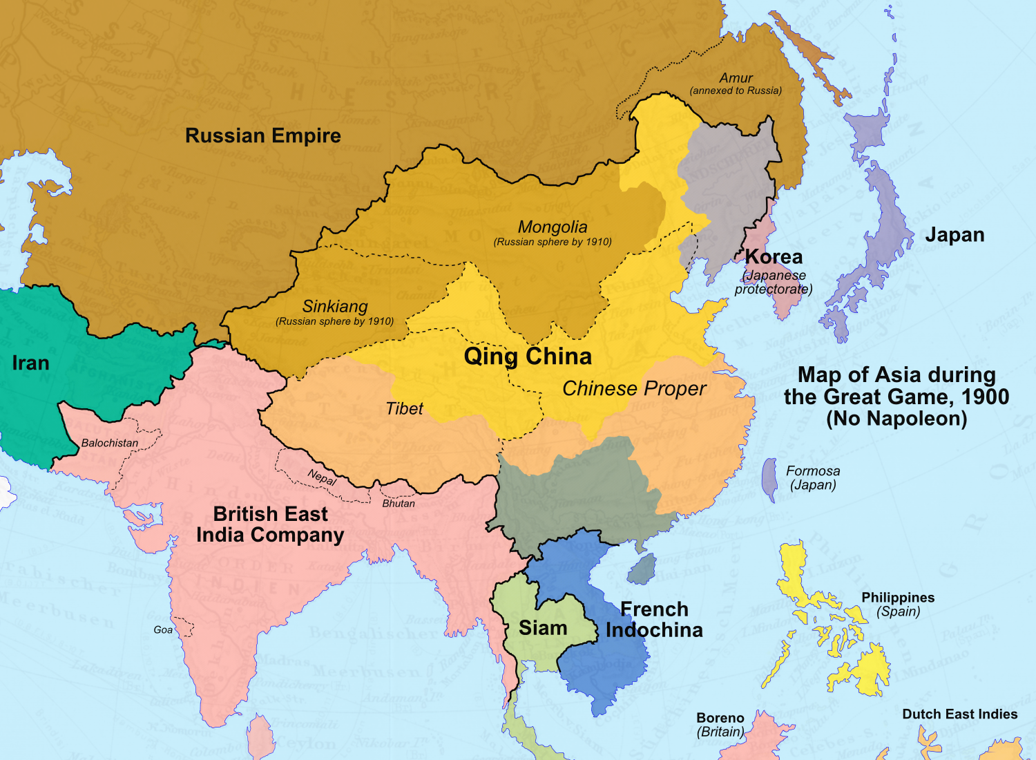 Image - Map of Asia, 1900 (No Napoleon).png | Alternative History ...