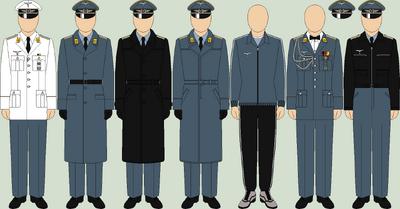 Die luftwaffe undress uniforms2