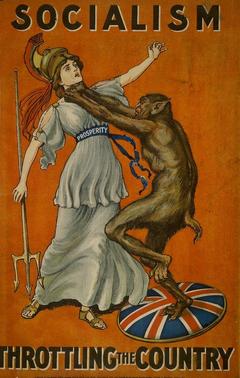 Антисоциалистический плакат