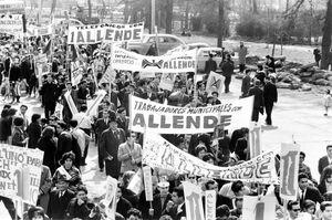 Apoyo a Allende