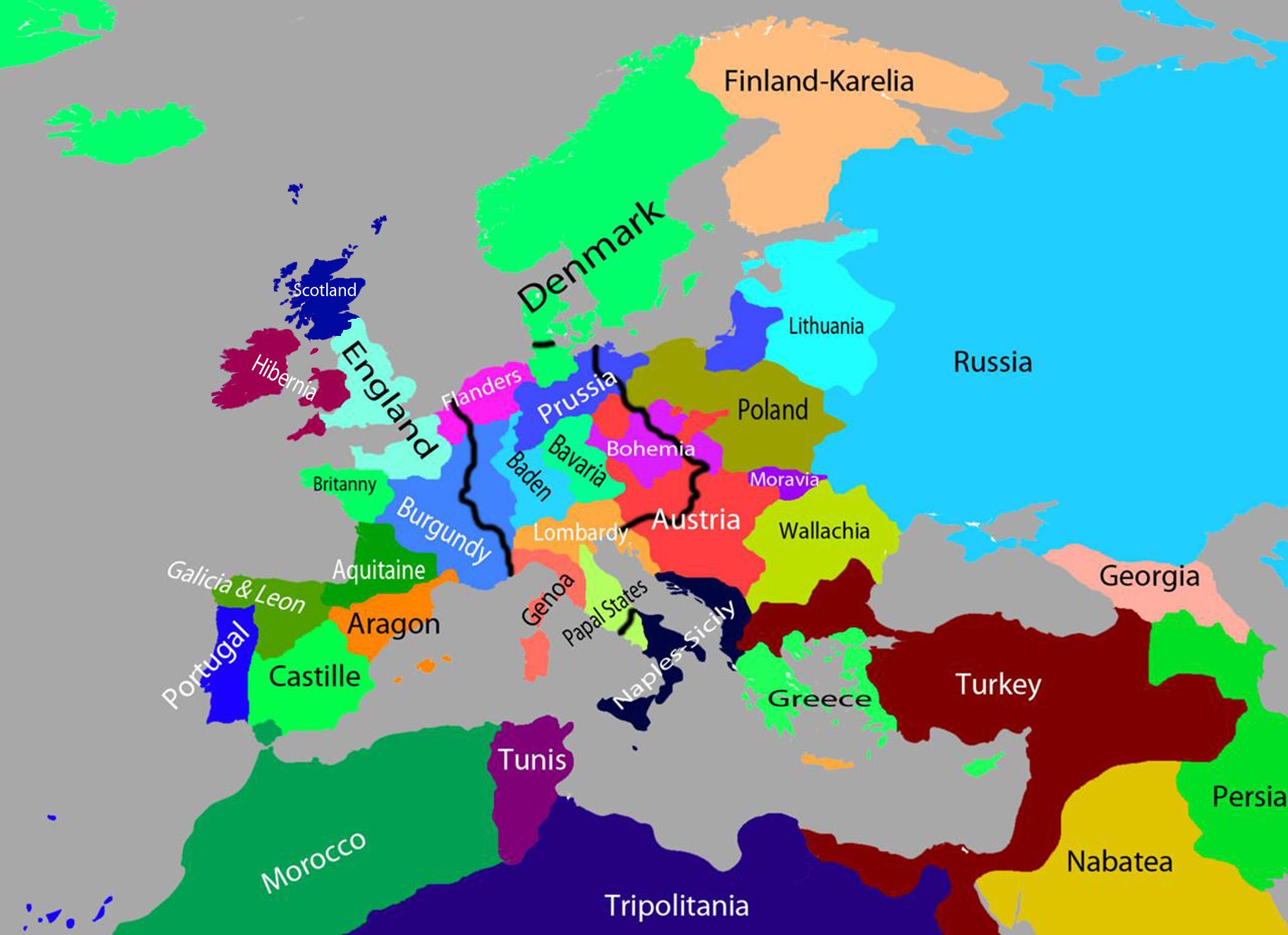 Map Of Europe 1500 | casami