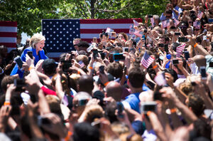 Hillary Clinton campaigning