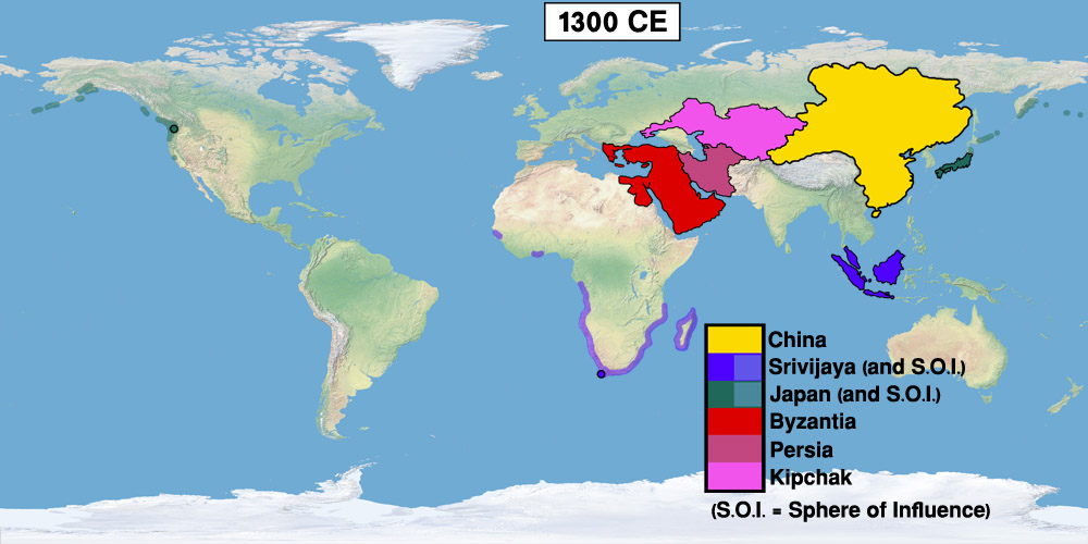 Timeline 1300s easternized world alternative history fandom 1300s colonization and the rebirth of china map world gumiabroncs Images