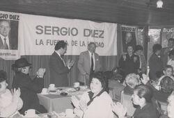 Sergio Diez en Campaña Senatorial