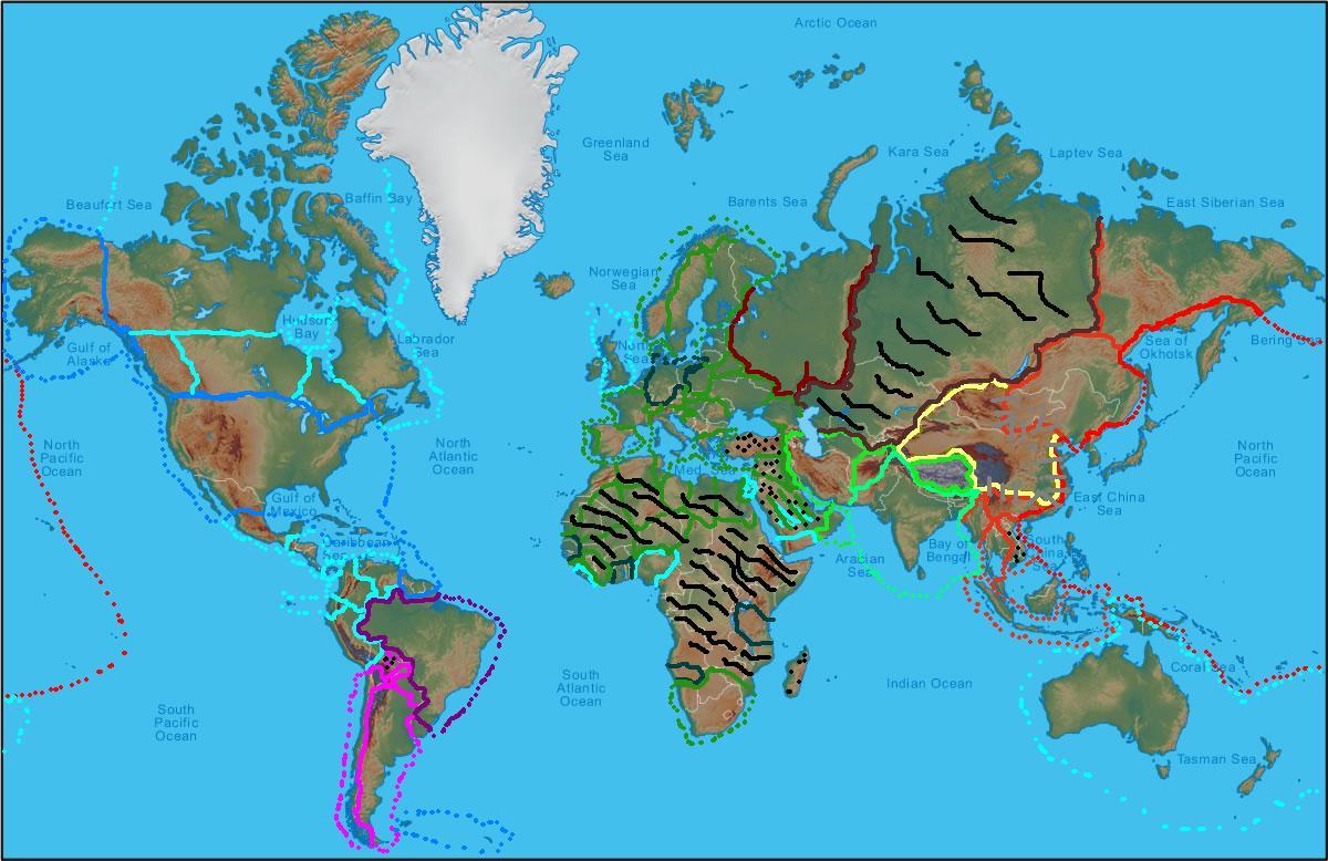 Image - World-physical-map.jpg | Alternative History | FANDOM ...