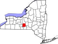 200px-Map of New York highlighting Tompkins County svg