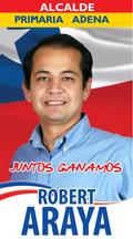 Afiche de Robert Araya para Primarias (CNS)