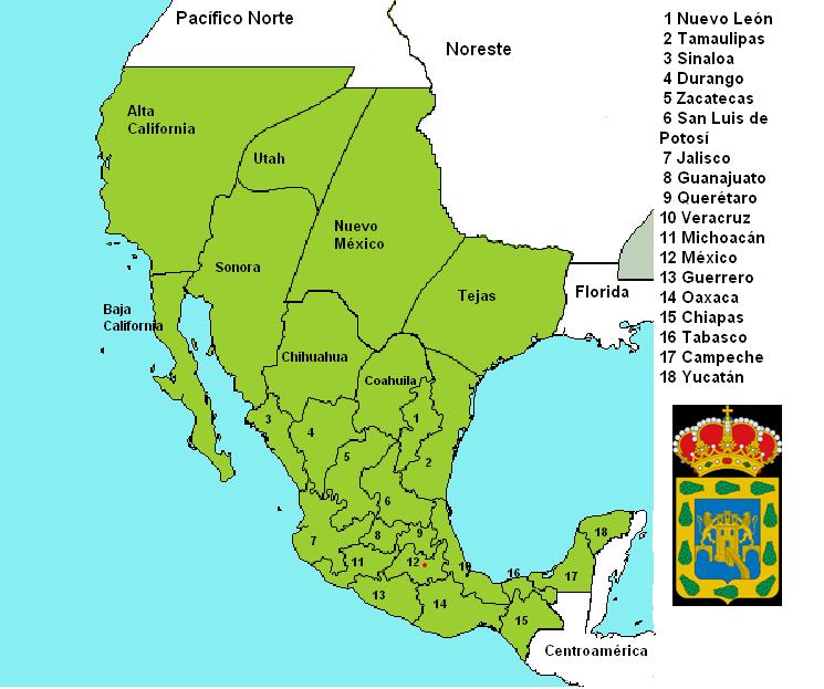 Mapa De Nueva España Siglo Xvi.Nueva Espana Mapa Thetremendingtopic