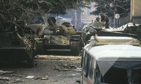 Грузинские танки на улицах