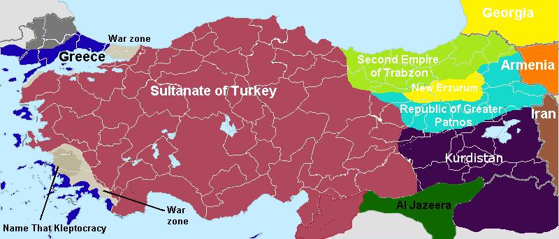 Image Turkey Greece Long Warpng Alternative History FANDOM - Map of greece and turkey