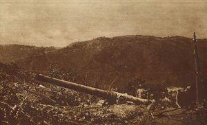 Итальянское орудие в горах