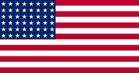 Флаг США 48 звёзд