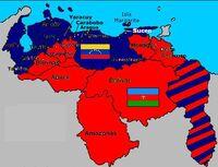 Mapa de las dos Venezuela